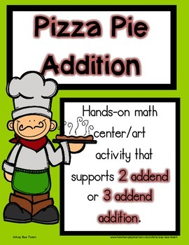 Pizza Addition Math Center Art Activity