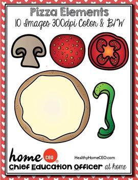 Pizza Elements Clip Art