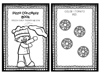 Pizza Concept Book for Speech and Language