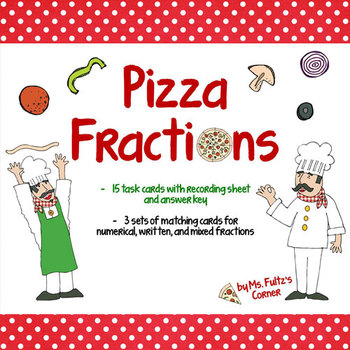 Pizza Fraction Game Cards