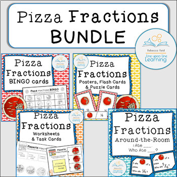Fractions Games and Worksheets, Pizza Theme