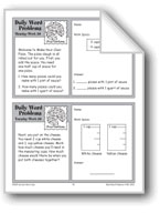 Pizza Fractions (Grade 3 Daily Word Problems-Week 30)