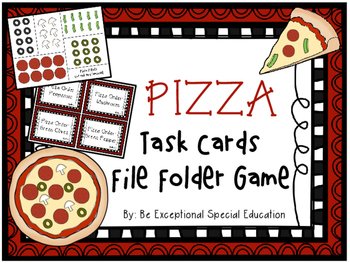 File Folder Activity - Following Steps Pizza Maker