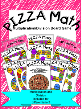 Pizza Math Multiplication Division Board Game