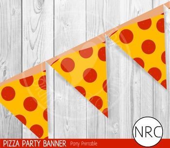 Pizza Party Banner - Party Printable