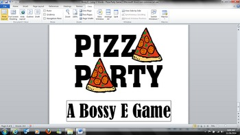 Pizza Party Game - Bossy E - Long O