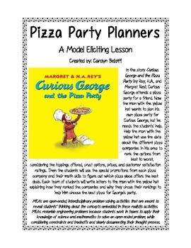 Pizza Party Planners MEA featuring Curious George (Model E