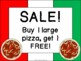 Pizza Restaurant Dramatic Play Pack