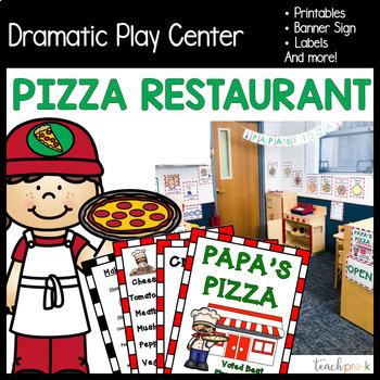 Pizza Restaurant Dramatic Play Set!