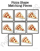 Pizza Shape Match File Folder Game for students with Autism