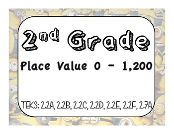 Minion Place Value 0-1,200 Review Task Cards
