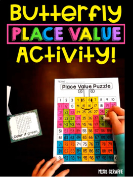 Butterfly Place Value Puzzle Center