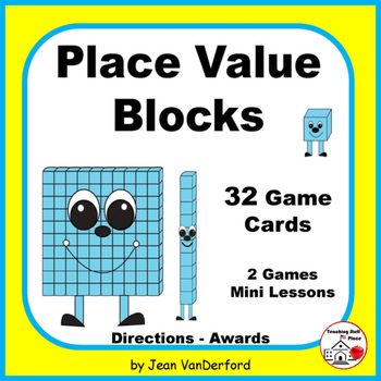 Base Ten Blocks | PLACE VALUE | MATH Game Task Cards | Min