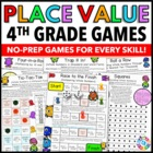 4th Grade Place Value Games (4.NBT.A.1, 4.NBT.A.2, 4.NBT.A.3)