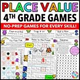 4th Grade Place Value Games (4.NBT.A.1, 4.NBT.A.2, 4.NBT.A.3)