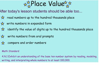 Place Value 1st Lesson Grade 4 Common Core