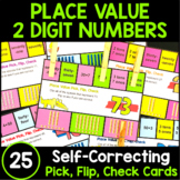 Place Value 2 Digit Numbers: Place Value Flip Cards