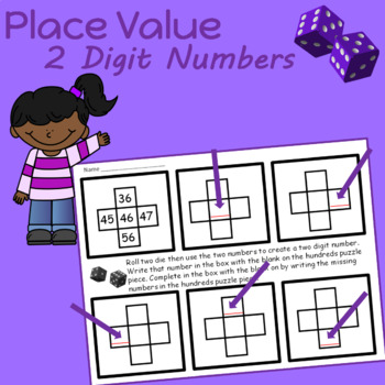 Place Value 2 and 3 Digit Numbers  (pieces of a hundreds chart)