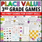 3rd Grade Place Value Games (3.NBT.A.1)