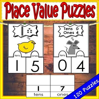 Place Value Kindergarten Puzzles