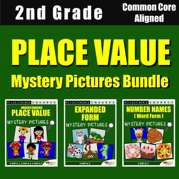 2nd Grade Place Value Review Worksheets, Mystery Pictures