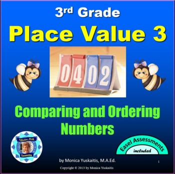 Common Core 3rd - Place Value 3 - Comparing & Ordering Numbers