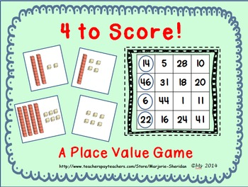 Place Value 4 to Score