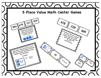 Place Value 5 Math Center Games