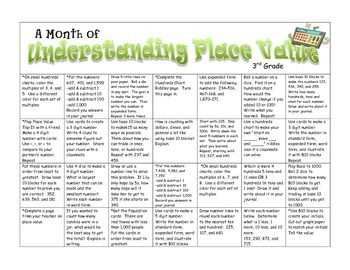 Place Value -- A Month of Games & Activities for 3rd Grade