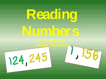 Place Value- A powerpoint for reading numbers to the hundr