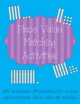 Place Value Activities - Tens and Ones