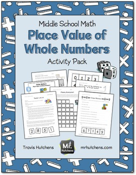 Place Value of Whole Numbers Activity Pack