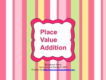 Place Value Addition Journal for First and Second Grade-CC