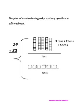 Place Value Addition Subtraction Unit for Common Core First
