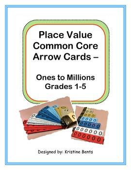 Place Value Arrow Cards Common Core