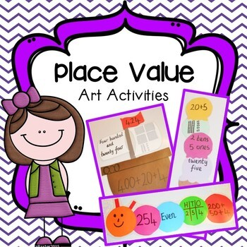 Place Value Art Activities Packet (Pirate Ships, Ice Cream