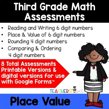 Place Value Assessments: Reading, Rounding and Comparing Numbers