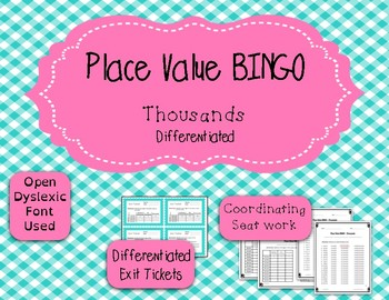 Place Value Game - BINGO - Thousands