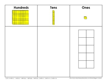Place Value Base-10 Sorting Mat