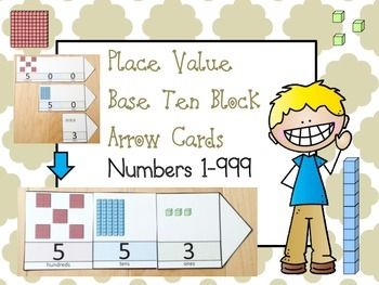 Place Value Cards with Base Ten Block Pictures (ones, tens