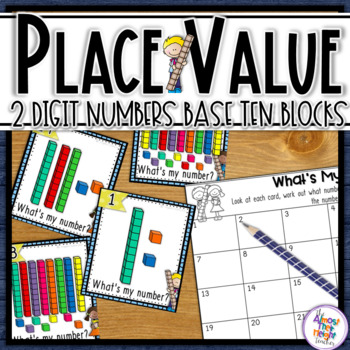 Place Value - Base Ten Blocks - 2 digit - Scoot/Matching activity