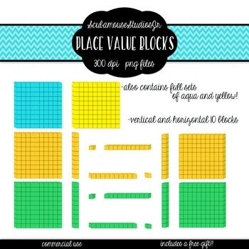 Place Value Blocks, 4 Colorful Sets, Elementary Math Supply