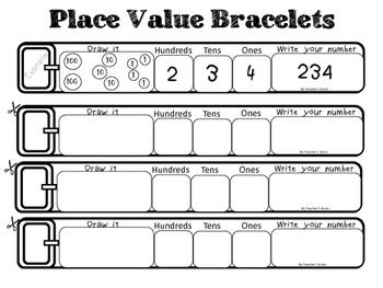 Place Value Bracelets by Teacher's Brain
