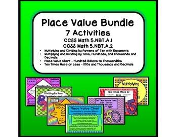 Place Value Bundle - 7 Activities - CCSS Math 5.NBT.A