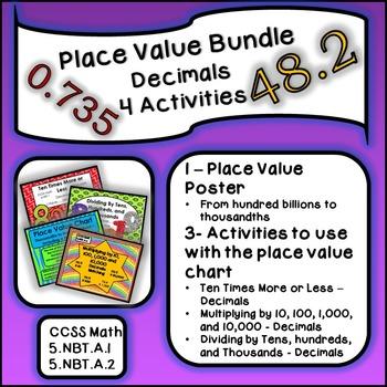 Place Value Bundle - Decimals - 4 Activities