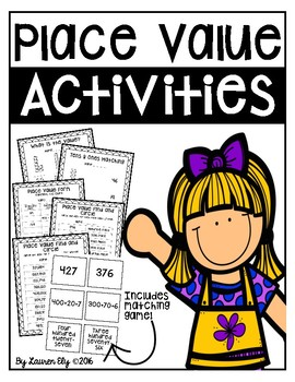 Place Value Activities - Includes Matching Game!