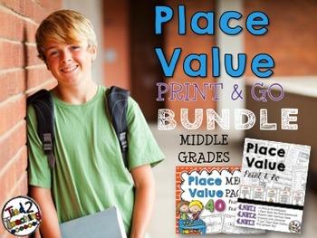 Place Value Bundle (Middle Grades)