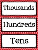 Place Value Cards from Billions to Thousandths {red and bl