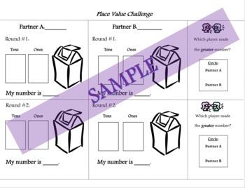 Place Value Center/Activty:  Place Value Challenge