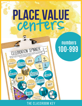 Place Value Centers Numbers 100 to 999, 2nd Grade Place Va